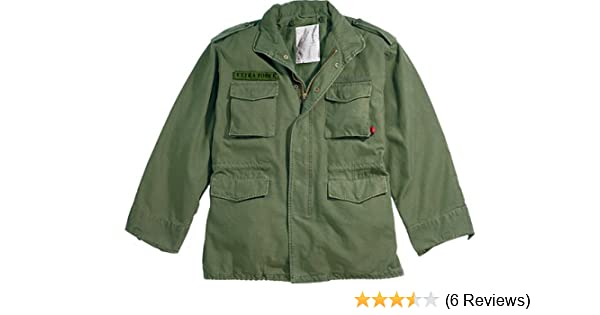 Amazon.com  Olive Drab Military Vintage M-65 Field Jacket 8603 Size  X-Large  Military Coats And Jackets  Clothing c7258d1e745