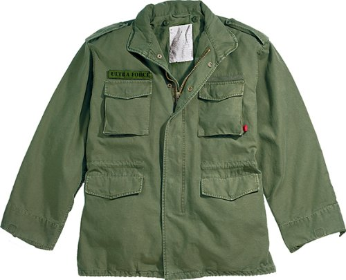 - Olive Drab Military Vintage M-65 Field Jacket 8603 Size Large