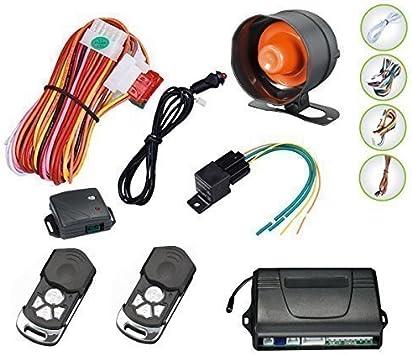 Ultimatecarparts Auto Alarmanlage Mit Sprachfunktion Mit Zentralverriegelung Und Wegfahrsperre Auto
