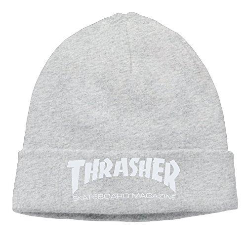 Thrasher Skateboard Magazine Unisex Beanie Skull Ski (Skateboard Brand Necklace)