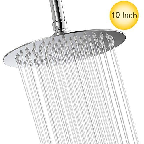 10 Inch Rainfall Shower Head Insputer Fixed Mount High Pressure Shower Head - Self Mirrors Cleaning Bathroom