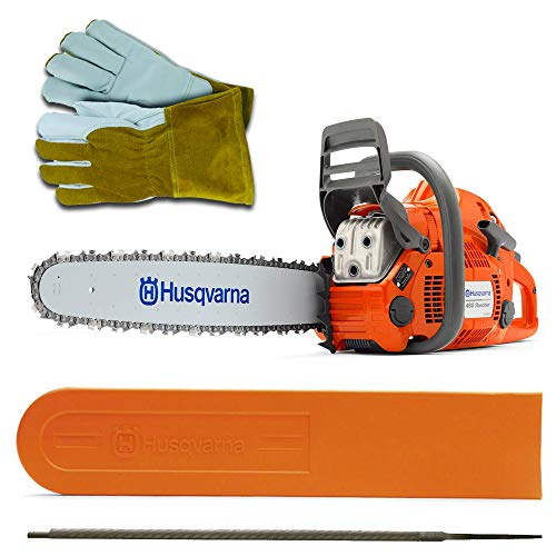 Husqvarna 460 Rancher 60cc Chainsaw With 24 Bar and Chain Plus 3 WoodlandPRO Chain Loops