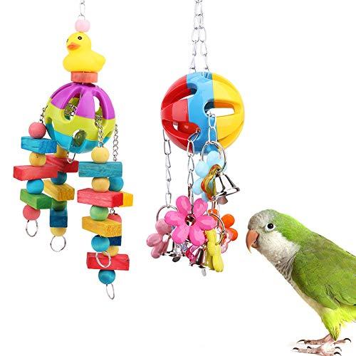 Rascador de jaula de pájaros de acrílico para loro, paracaídas, cóctel, campana, juguete para loro, jaula de pájaros, accesorios