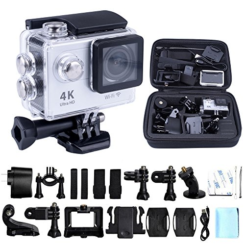 4K WIFI Sports Action Camera, kuman 4K Waterproof Camera Full HD 1080p Waterproof Cam DV Camcorder Outdoor for...