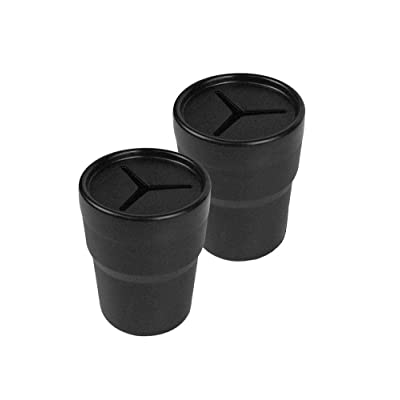 JAVOedge 2 Pack Black Small Car Storage Holder for Pens, Coins, Cash, Fits in Cup Holder with Bonus Drawstring Bag: Automotive