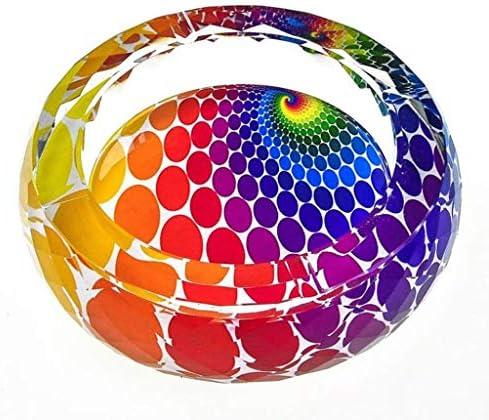 灰皿 , ホーム3Dピーコッククリスタル灰皿ファッション創造的なパーソナリティギフトラージブティックヨーロッパのリビングルームの装飾 (サイズ : Diameter 15cm)