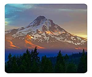 Decorative Mouse Pad Art Print Landscape and Plants Mount Hood