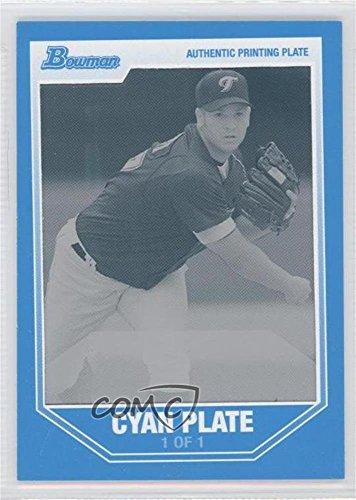 Jason Monti #1/1 (Baseball Card) 2007 Bowman Draft Picks & Prospects - Prospects - Printing Plate Cyan Framed #BDPP47