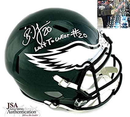 "fd25b5276a9 Brian Dawkins Autographed/Signed Philadelphia Eagles Riddell Speed NFL  Helmet With""Last to Wear"