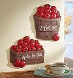 Set Of 2 Bushel Of Apples Kitchen Wall Decor