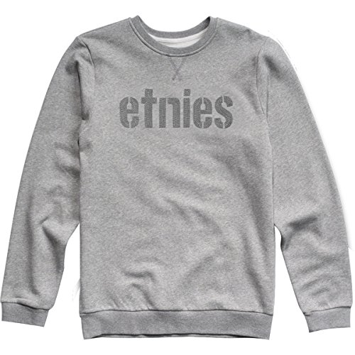 Etnies Mens E-Lock Crew Sweater,Medium,Dark Grey