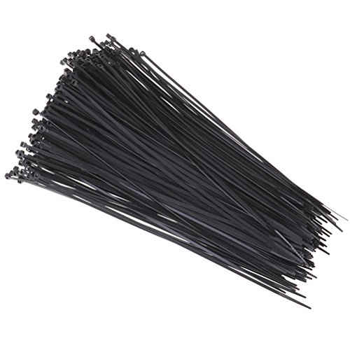 JiaUfmi 250 Pieces Cable Ties Self-locking Zip Ties Nylon Ca