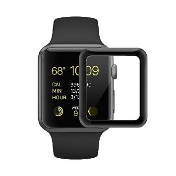 Apple Watch serie 2 Protector de Pantalla [Cobertura Completa] [Resistencia a Los Arañazos] 3D 38mm de la Serie de Cristal Templado Para Apple Watch ...