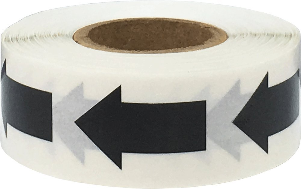 Color Coding Arrow Labels Black For Organizing Inventory 1 x 5/8 Inch 500 Total Adhesive Stickers