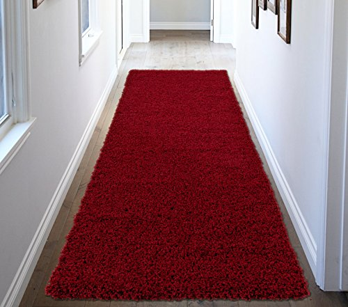 Ottomanson Soft Cozy Color Solid Shag Runner Rug