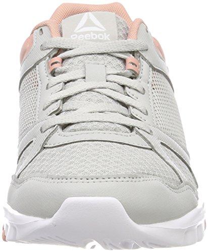Reebok Yourflex Trainette 10 MT, Zapatillas de Deporte Para Mujer Gris (Skull Grey/Chalk Pink/White 000)