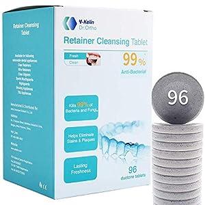 Y-kelin Tableta de limpieza de retenedor ortodóntico Tableta de 96 (96 tabletas) 6