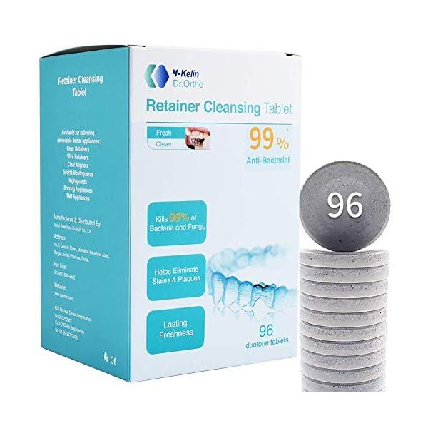Y-kelin Tableta de limpieza de retenedor ortodóntico Tableta de 96 (96 tabletas) 1