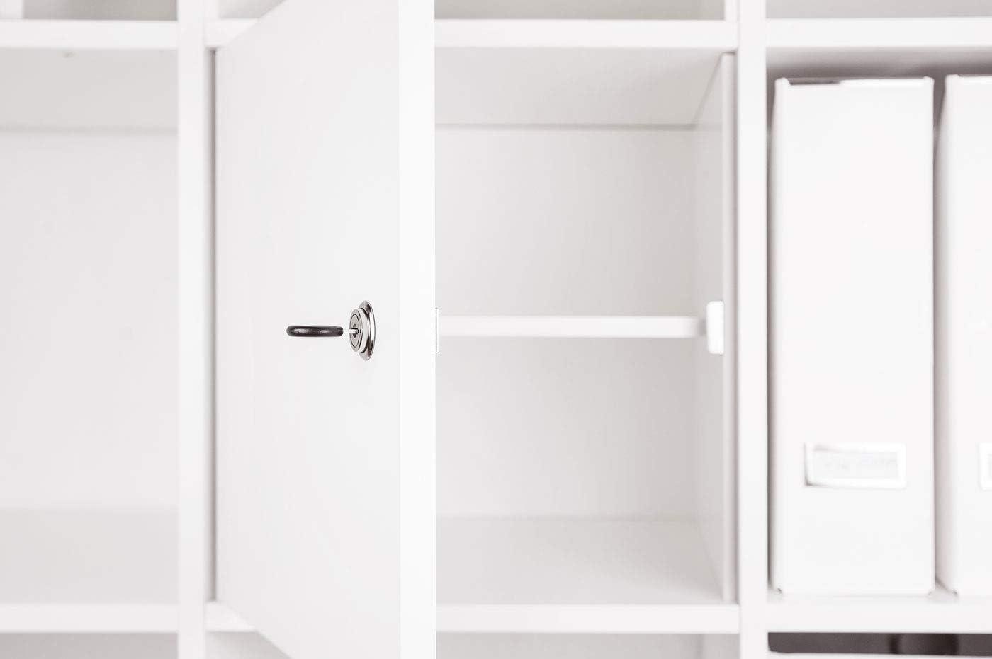 Saxon Puerta para Ikea Kallax. Con Estante (compatible también para Expedit.)/verschließbares estante/Kallax Puerta con candado y posterior en color blanco – Ideal para profesores habitaciones trabajo Seguridad Infantil: Amazon.es: Juguetes y juegos