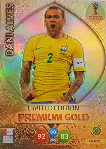 b1d02e7b2fe ADRENALYN XL FIFA World Cup 2018 Russia - DANI Alves Premium Gold Limited  Edition Trading Card