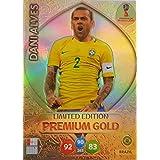 FIFA WORLD CUP 2018 ADRENALYN XL RUSSIA - DANI ALVES PREMIUM GOLD LIMITED EDITION TRADING CARD - BRAZIL