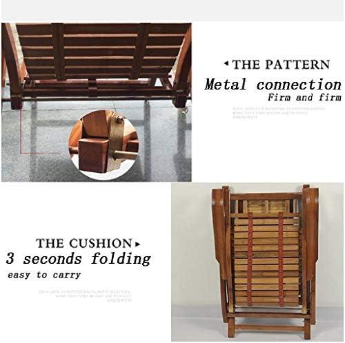 Silla Mecedora de bambú Silla Plegable, Silla de Masaje de bambú de Madera con Masaje de pies para Interior/Exterior/Parque/Camping/sillón