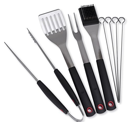 Culina Grilling/ BBQ Tool Set. 8-pc. Stainless Steel. Soft Touch Handle