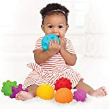 The Magic Toy Shop 6 Piece First Baby Ball Set Baby Hand Massage Multi Textured Sensory Soft Balls