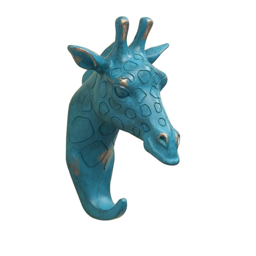 Hook Creative Animal Head Wall Hanger Resin Hooks Key Holder Home Decor Elephant Rhinoceros Shape Decorative Hangers
