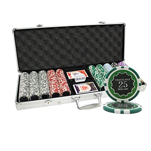 MRC 500pcs Eclipse Poker Chips Set with Aluminum Case Custom Build by Mrc Poker