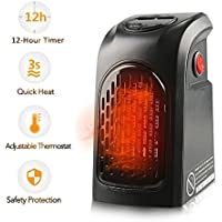 Mini Plug In Handy Heater, Portable 350W Wall Out-let Electric Space Heater with Adjustable Timer Digital Display for Home/Office/Camper