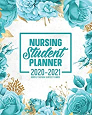 Nursing Student Planner 2020-2021 Monthly Calendar And Weekly Planner: 12 Month Agenda Inspirational Quotes Tu