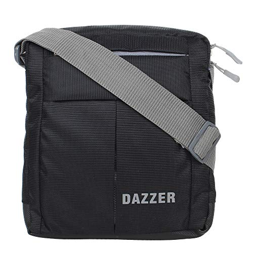 Dazzer Unisex Light weight Messenger Travel Sling Bag for Men, Women (Black)