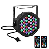 par can led lights - YeeSite Par Lights with 36 LEDs RGB Wash Light by IR Remote and DMX Control for Stage Lighting