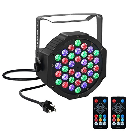 YeeSite Par Lights with 36 LEDs RGBW Wash Light by IR Remote and DMX Control for Stage Lighting Dmx Led Wash Light