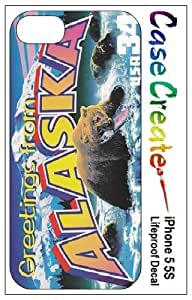 Alaska Postcard Decorative Sticker Decal for your iPhone 5 5S Lifeproof Case