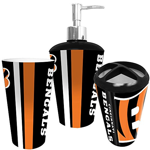 NFL Bath Tumbler, Toothbrush Holder & Soap Pump (3pc Set)