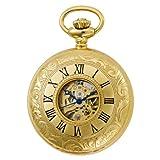 Gotham Men's Gold-Tone Mechanical Pocket Watch with Desktop Stand # GWC14040G-ST, Watch Central