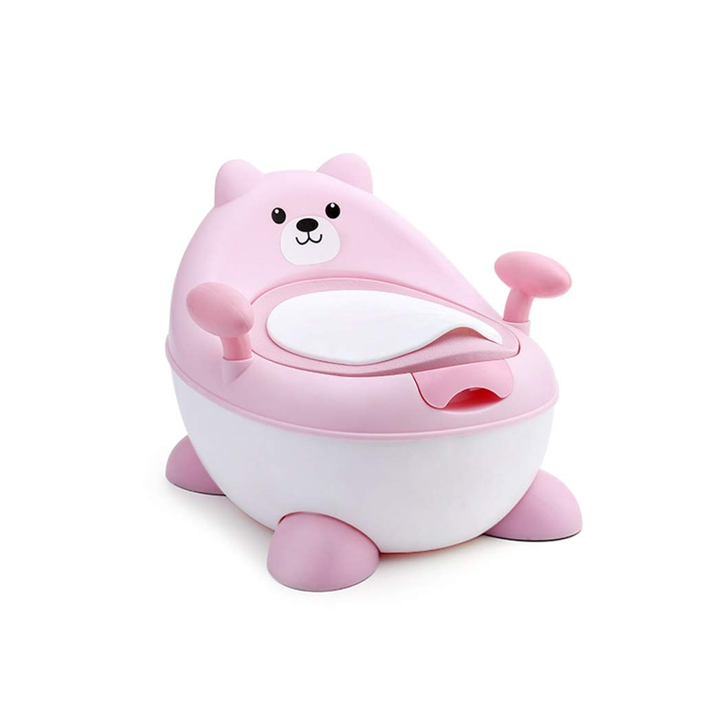 XWJC Large Children's Toilet Baby Toilet Baby 1-3-6 Years Old Child Seat Baby Potty Can Be Adjusted Freely (Color : Pink)