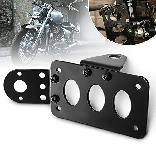 yunli For Harley Metal Axle Side Mount License Plate Rear Taillight Bracket Motorcycles Parts by yunli