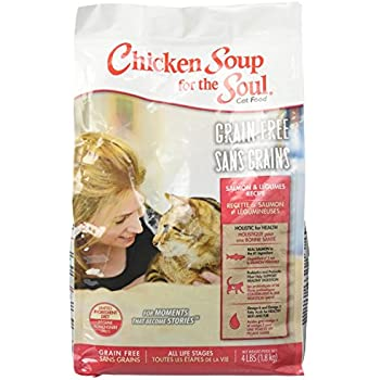 Chicken Soup For The Soul 418229 Grain-Free Salmon And Legumes Cat Food, One Size/4 Lb
