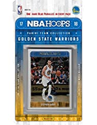 Golden State Warriors 2017 2018 Hoops Basketball Factory Sealed 10 Card NBA Licensed Team Set with Stephen Curry Kevin Durant Plus