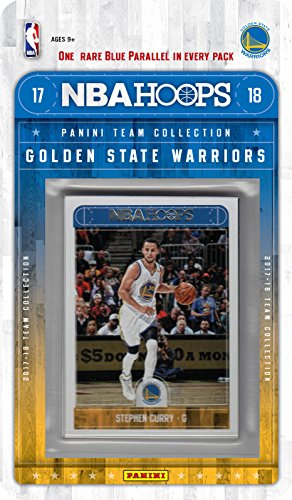 fan products of Golden State Warriors 2017 2018 Hoops Basketball Factory Sealed 10 Card NBA Licensed Team Set with Stephen Curry Kevin Durant Plus
