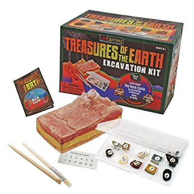 GeoCentral Excavation Dig Kit - Treasures Of The Earth: Toys & Games