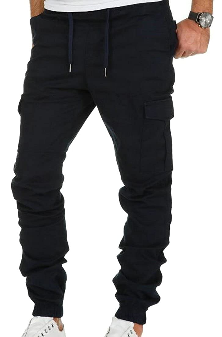 ainr Men's Casual Jogger Trousers Sweatpants Chinos Cargos