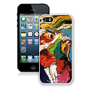 BINGO retail Abstract painting iPhone 5 5S Case White Cover