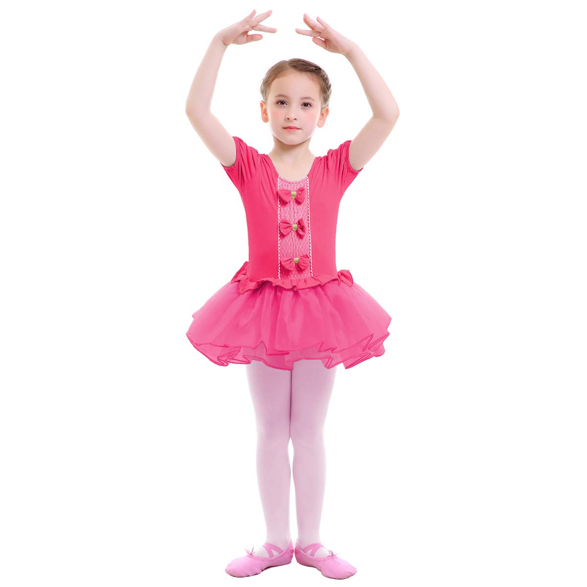 bd60f380b Girls Ballet Dance Tutu Dress Leotard Ruffled Tulle Skirt Ballerina ...
