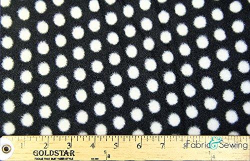 Polka Dot Party Black Anti-Pill Polar Fleece - Plush Fabric Polyester 13 Oz - Polka Dot Fleece