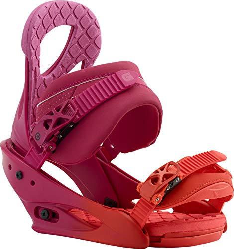 Burton Stiletto Snowboard Bindings Lily Orange Womens Sz L (8+) (Best Womens Snowboard Bindings)