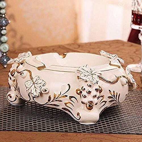 葉巻灰皿, メッキ彼氏ハイエンド磁器手の金を送るための灰皿セラミックリビングルームの誕生日の贈り物